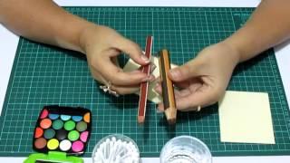 getlinkyoutube.com-DIY Difuminar con Crayones en Fomi, Goma Eva, Microporoso, Easy Crafts