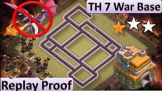 getlinkyoutube.com-TH 7(TOWN HALL 7) ANTI 2 STARS WAR BASE || SPEEDBUILD + REPLAYS || CLASH OF CLANS