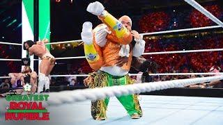 Hornswoggle slams Kofi Kingston with a Samoan Drop: Greatest Royal Rumble (WWE Network Exclusive) width=