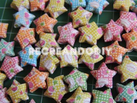 Como hacer estrellitas de papel infladas. Stars Origami.