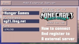 "getlinkyoutube.com-Minecraft PE ""How to Connect and Register to a External Server"" [0.12.1]"