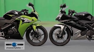 getlinkyoutube.com-Yamaha YZF-R15 Vs Honda CBR 150R : ChooseMyBike.in Review