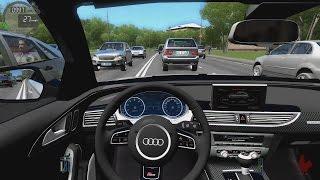 getlinkyoutube.com-City Car Driving - Audi RS6-R   High Traffic Racing