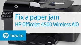 getlinkyoutube.com-Fixing a Paper Jam - HP Officejet 4500 Wireless All-in-One (G510n)