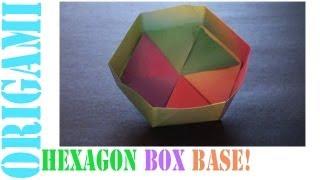 getlinkyoutube.com-Origami Daily - 446: Hexagon Box Base Ver 3. (Modular 3 Unit) - TCGames [HD]
