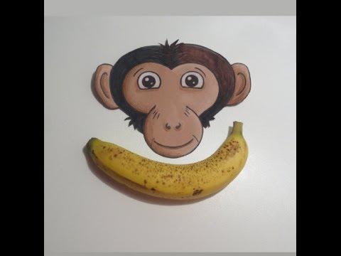 كيف تقشر الموز على طريقه القرد ?