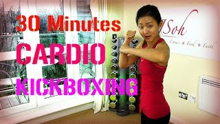 getlinkyoutube.com-30 Minutes Cardio Kickboxing (Burn 300 Calories!)