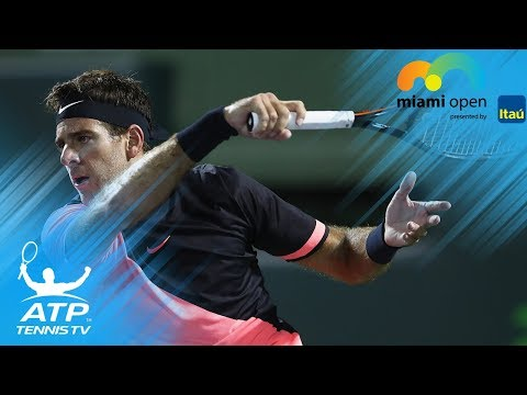 Del Potro steals the banana shot from Nadal