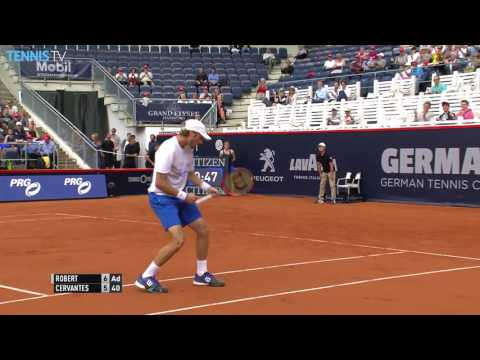 Robert Displays Net Finesse In Hamburg 2016