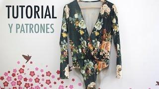 getlinkyoutube.com-DIY Costura: Body de terciopelo (patrones gratis)