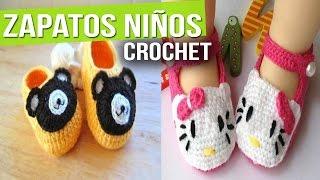 getlinkyoutube.com-Zapatitos Para Niños y Bebes de Animales - Tejidos a Crochet ( Diseños e Ideas )