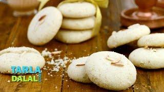 getlinkyoutube.com-Nankhatai (Diwali Special biscuit) /How to Make Eggless Indian Cookie Recipe by Tarla Dalal