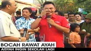 Reporter TV menangis melihat kisah sedih aisyah - bocah rawat ayah