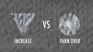 getlinkyoutube.com-The Difference Between An Increase And A Yarn Over :: Knitting Tip