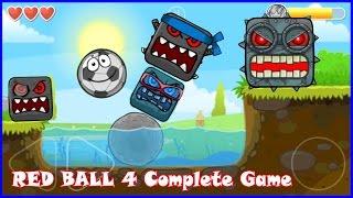 getlinkyoutube.com-Complete Red Ball 4 game walkthrough with Soccer Ball. Killed all bosses