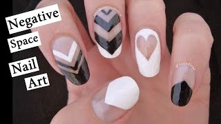 getlinkyoutube.com-Negative Space Nail Art | Black & White with Nailed It NZ