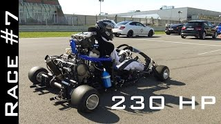 getlinkyoutube.com-Go Kart with CBR1000RR Fireblade Engine vs Suzuki Hayabusa 1300 | Race #7