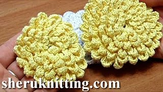 getlinkyoutube.com-Crochet Fluffy Flower Tutorial 9 Große Blume häkeln