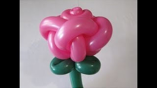 getlinkyoutube.com-Роза из шаров, 5 лепестков / Rose of ballons, 5 petals (Subtitles)