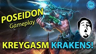 getlinkyoutube.com-SMITE - Poseidon Gameplay and Cooldown Build! Kraken will always be amazing. (Live Stream)