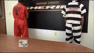 getlinkyoutube.com-Saginaw County Jail dumping orange for black and white jumpsuits