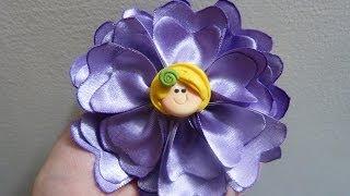 DIY: pasos de flores  en listón para el cabello  en cinta satin o raso. Manualidades la hormiga