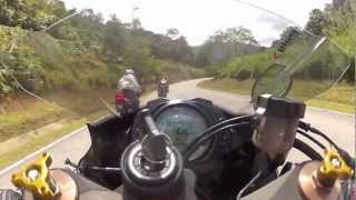 getlinkyoutube.com-YAMAHA FZ150 vs KAWASAKI KIPS vs SUPERBIKE @ bukit tinggi down