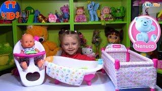getlinkyoutube.com-Кукла Ненуко. Распаковка и обзор новой куклы с набором. Видео для детей. Doll Nenuco