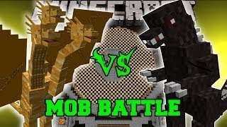 getlinkyoutube.com-GODZILLA VS KING GHIDORAH - Minecraft Mob Battles - Godzilla Mod
