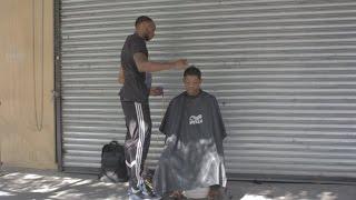 getlinkyoutube.com-Haircuts For The Homeless On The Street!