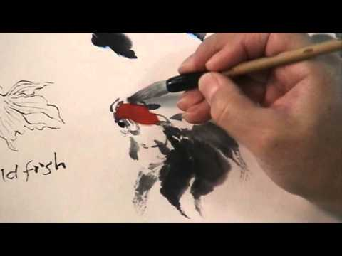 How to Paint Goldfish Step by Step with Henry Li