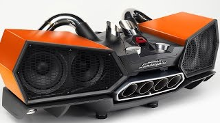 getlinkyoutube.com-Lamborghini Audio Station (Uses Lamborghini Exhaust Pipes)
