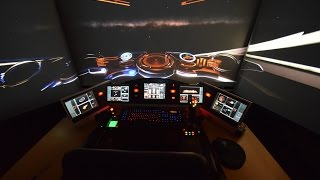 getlinkyoutube.com-Elite: Dangerous - new enhancements in my 3 projector setup
