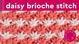 getlinkyoutube.com-How to Knit the DAISY FLOWER STITCH