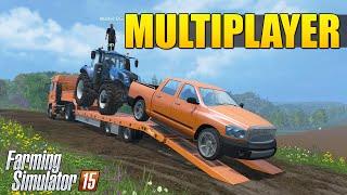 Farming Simulator 2015 Multiplayer - Plantio de Grama
