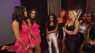 "getlinkyoutube.com-The Bella Twins invite Eva Marie and Jo-Jo to a ""Total Divas"" cast meeting with Natalya and The Funk"