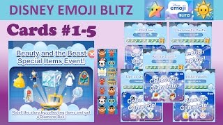 Disney Emoji Blitz Beauty and the Beast Special Items Event (Cards 1-5 Completed)