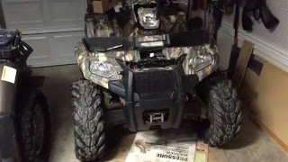 getlinkyoutube.com-How to install a winch 2014 Polaris sportsman 570 winch install