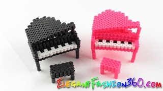 getlinkyoutube.com-DIY Perler Beads/Hama Beads 3D Piano - How to Tutorial/Perfect for Doll House