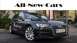 getlinkyoutube.com-All-new Audi A4 Avant Design 2.0 TDI S tronic exterior, interior, driving