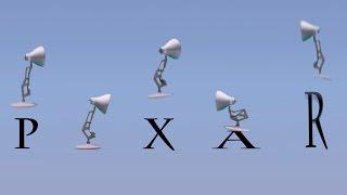 getlinkyoutube.com-73-Five Pixar Lamps Luxo Jr Attack PIXAR Luxo Jr Logo
