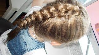 getlinkyoutube.com-Warkocz dobierany holenderski (wypukły/odwrotny) | Dutch braid | Fryzury Dziewczęce ♡