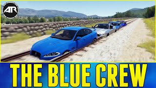 getlinkyoutube.com-Forza Horizon 2 Online - THE BLUE CREW!!! (Out Of Map Glitch)