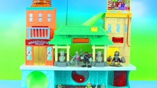 getlinkyoutube.com-Teenage Mutant Ninja Turtles Super Sewer HQ Mikey Splinter Save Disney Frozen ANNA TMNT Just4fun290