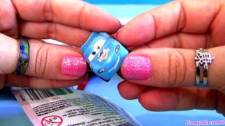 getlinkyoutube.com-Micro Drifters Toy Surprise Bags CARS 2 Gold Francesco Bernoulli Disney Pixar toys Rip Clutchgoneski