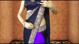 getlinkyoutube.com-Sexy Bollywood Saree Drape:How To Wear Saree Like Ketrina Kaif