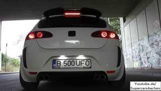 getlinkyoutube.com-Revo Tuning Seat Leon Cupra R (FR) 512HP Sebring+Borla Exhaust Sound | Brutal Ride | Launchcontrol |