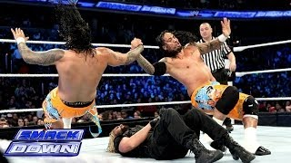 getlinkyoutube.com-The Usos vs. Seth Rollins & Roman Reigns: SmackDown, Jan. 3, 2014
