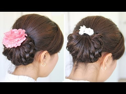Homecoming Knotted Hair Bun Hairstyle