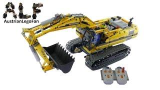 getlinkyoutube.com-Lego Technic 8043 Motorized Excavator - Lego Speed Build Review